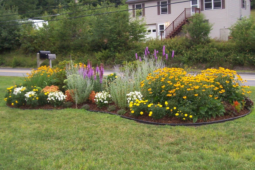 Residential landscape projects simple by nature landscape for Flower landscape