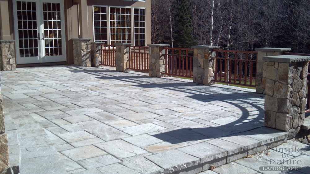 patio designs stone stone patio wall luxury backyard patio patio yard boss landscape design llc mattapoisett - Stone Patio Designs